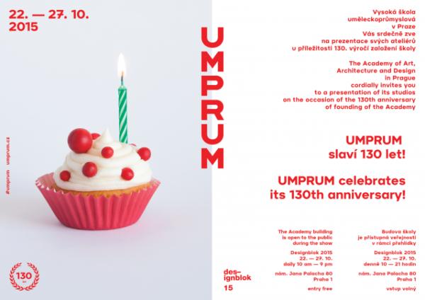 Design blok – 130 let UMPRUM (2015) (Budova UMPRUM Praha)